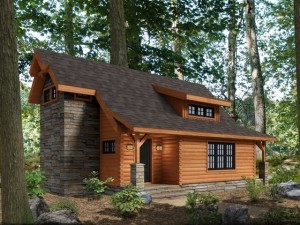 log cabin in the woods, goose creek quarterly feature,