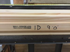 alpha-numeric code of wall grade log, welcome, log homes, log cabin homes, log cabins, post and beam homes, timberframe homes, timber frame homes, laminated logs, engineered logs, floor plan designs, kiln dried logs, Timberhaven local reps, log homes in Pennsylvania, log homes in PA, Timberhaven Log Homes, Timberhaven Log & Timber Homes