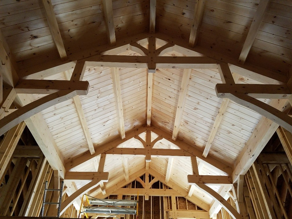 The differences between a log home or timber frame home