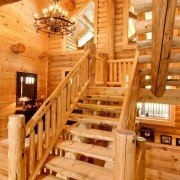 Half Log Stairs - Timberhaven
