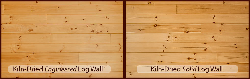 Engineered Log Wall Comparison