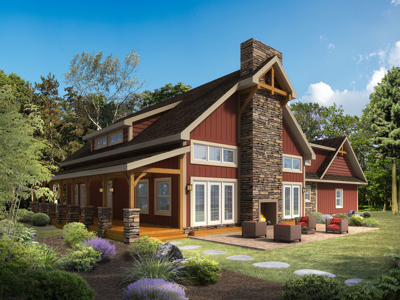 New heritage timber frame design for Timber style homes