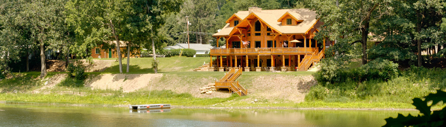Log Home Waterfront