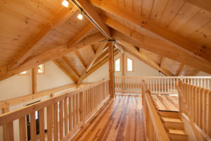 post beam loft, radiant floor heating, log homes, log cabins, timber frame homes, laminated logs, engineered logs, floor plan designs, kiln dried logs, log homes in Pennsylvania, Timberhaven Log Homes, Timberhaven Log & Timber Homes