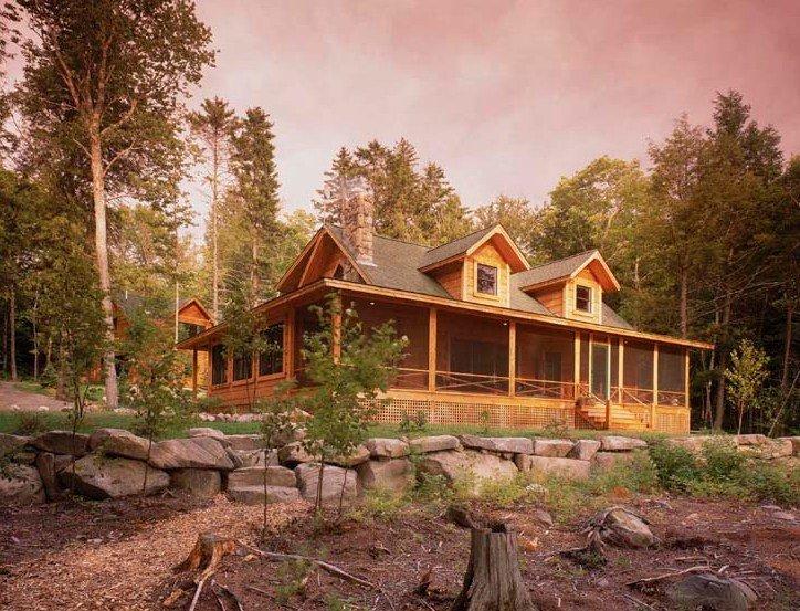 Custom Cape Cod Log Home Tour Timberhaven Log Amp Timber Homes