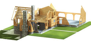Lumber Log Home Package