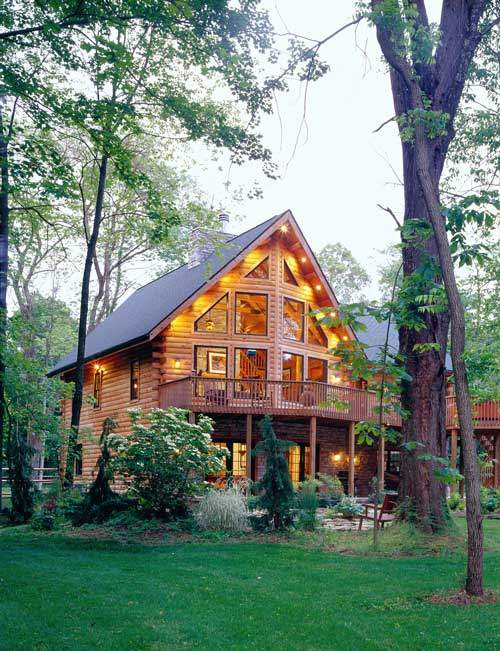 The differences between a log home or timber frame home for Log a frame cabins