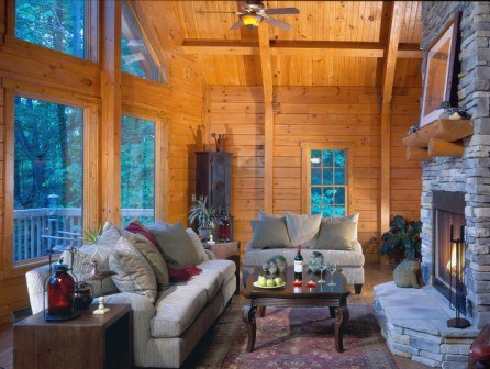 log home living room great rooms timberhaven log timber homes