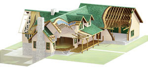Weather Tight Log Home Package