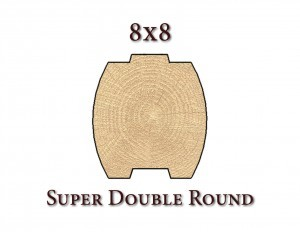 8x8 super double round drawing, Manufacturing process, log homes, log cabins, timber frame homes, laminated logs, engineered logs, floor plan designs, kiln dried logs, log homes in Pennsylvania, Timberhaven Log Homes, Timberhaven Log & Timber Homes