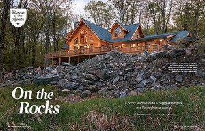 Log Home On The Rocks, Log Homes, Log Cabins, Timber Frame Homes,