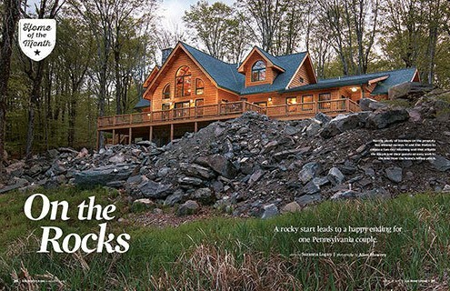 On The Rocks: Log Home Living Magazine Feature
