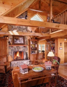 dining room in log home, focal features, log homes, log cabins, timber frame homes, laminated logs, engineered logs, floor plan designs, kiln dried logs, log homes in Pennsylvania, Timberhaven Log Homes, Timberhaven Log & Timber Homes