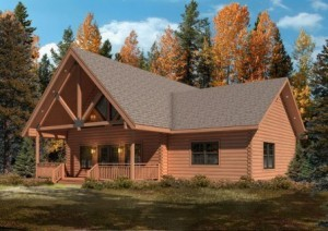 log cabin in the woods, fall feature home, log homes, log cabins, timber frame homes, laminated logs, engineered logs, floor plan designs, kiln dried logs, log homes in Pennsylvania, Timberhaven Log Homes, Timberhaven Log & Timber Homes