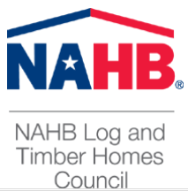 NAHB Log & Timber Homes Council logo, Council features Timberhaven, Timberhaven, log homes, timber homes