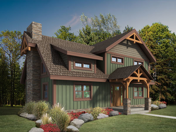 Craftsman Timber Frame Fall Feature Home