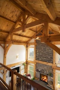 Timber Frame Great Room Greatness, log home living, timber frame home living, log home lifestyle, timber frame lifestyle, Timberhaven, Engineered Logs, Engineered Timbers, log cabin kits, timber frame kits, log home living lifestyle