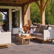 better backyard, timber frame pavilion, timber frame porch, outdoor living