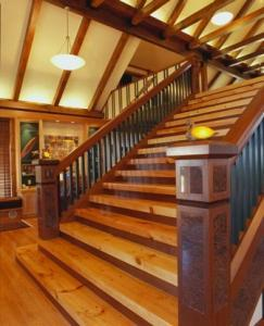 custom stairs in log home, stair systems, wooden stair systems, custom stair systems, custom stairs, wooden stairs, Timberhaven stair options