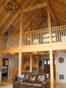 timber frame loft, timber frame homes, timberframe home, Timberhaven, timber frame house, log and timber homes, client testimonial