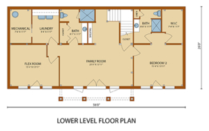 lower level floor plan of home, Lake Augusta, Lake Augusta Timber Frame Design, timber frame homes, timber frame home, timber frame design, timber frame floor plans, Timberhaven