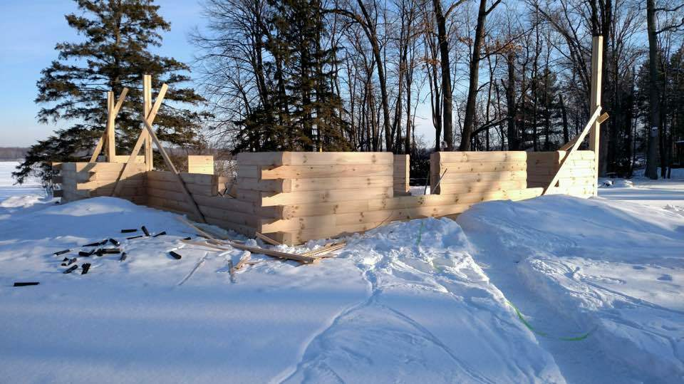 Benefits of building a log home in the winter: Part 3