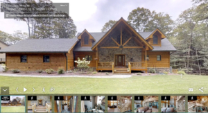 log home virtual tour, virtual tours, log home tour, log home, log home living, tour a log home, Timberhaven, kiln dried, engineered logs