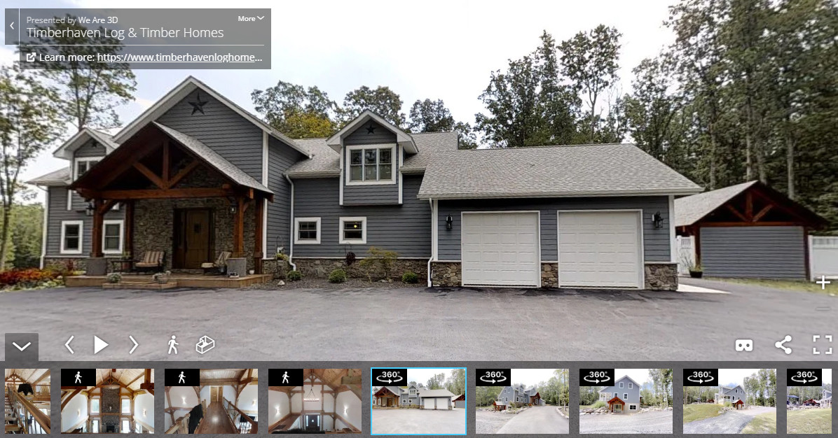 Log & Timber Home Virtual Tours Now Available