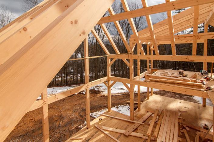 Under construction timber framework