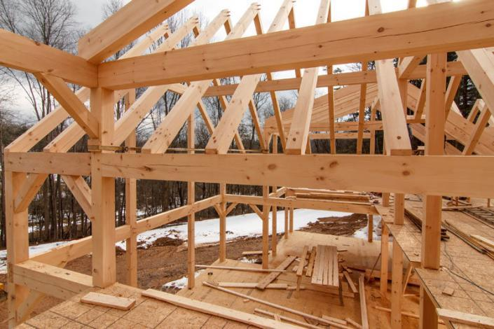Under construction timber framework