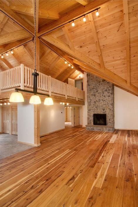 Cathedral ceiling in post and beam home
