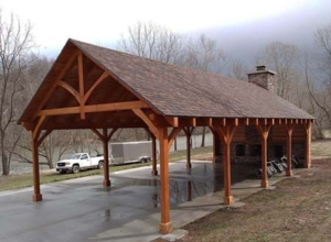 Timber Frame Pavilion King Truss, outdoor living area, outdoor timber structure, timber structure, outdoor wooden structures, timber frame pavilion