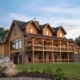 Log Home Exterior Stacked Porches
