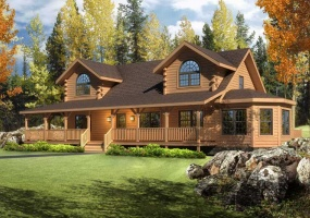 Riverview,Timberhaven Log Home,3 Bedrooms,2 Bathrooms
