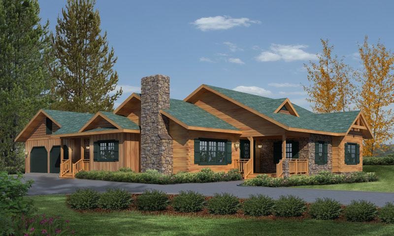 Northwood-Hybrid,Timberhaven Log Home,3 Bedrooms,2 Bathrooms