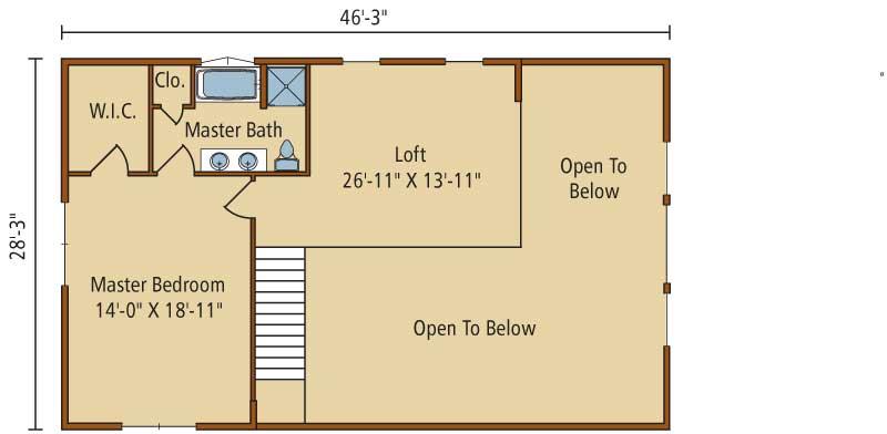 Keystone-I,Timberhaven Log Home,3 Bedrooms,2 Bathrooms