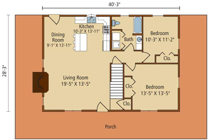 Meadow-View-I,Timberhaven Log Home,3 Bedrooms,2 Bathrooms