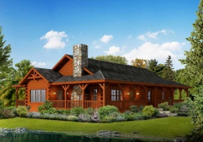 Liberty,Timberhaven Log Home,3 Bedrooms,2 Bathrooms
