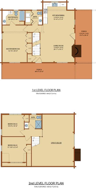 Clear-Creek,Timberhaven Log Home,3 Bedrooms,3 Bathrooms