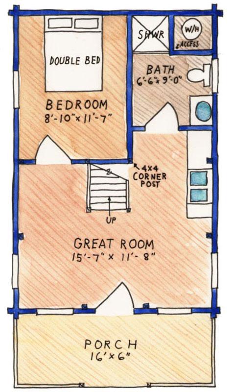 Cove-Creek,Timberhaven Log Home,1 Bedroom,1 Bathroom