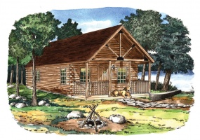 Cove-Creek,Timberhaven Log Home,1 Bedroom,1 Bathroom