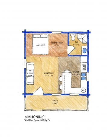 mahoning,Timberhaven Log Home,1 Bedroom,1 Bathroom