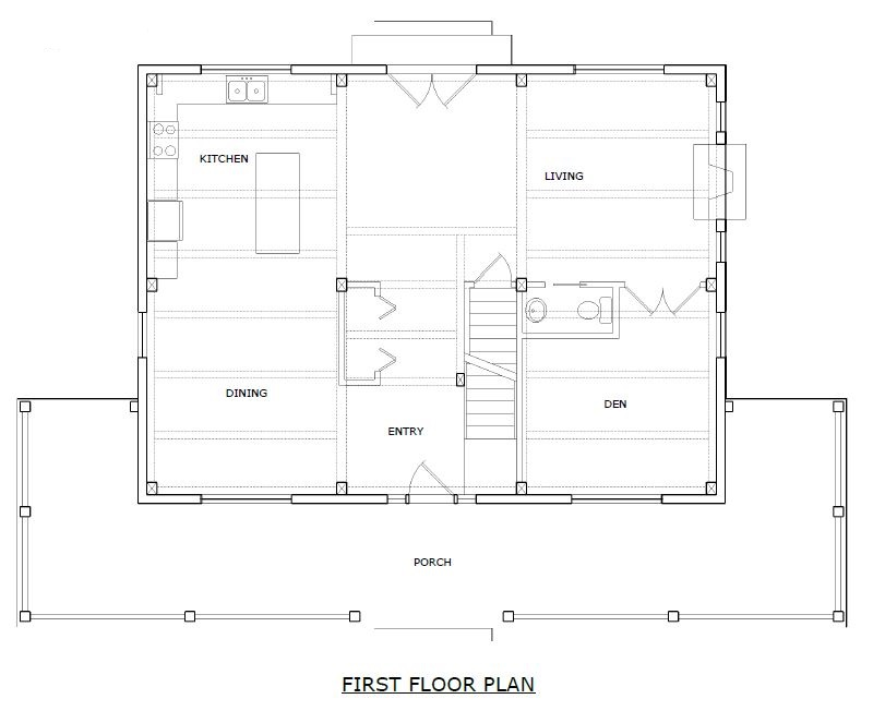 Huntington Timber Frame First Floorplan