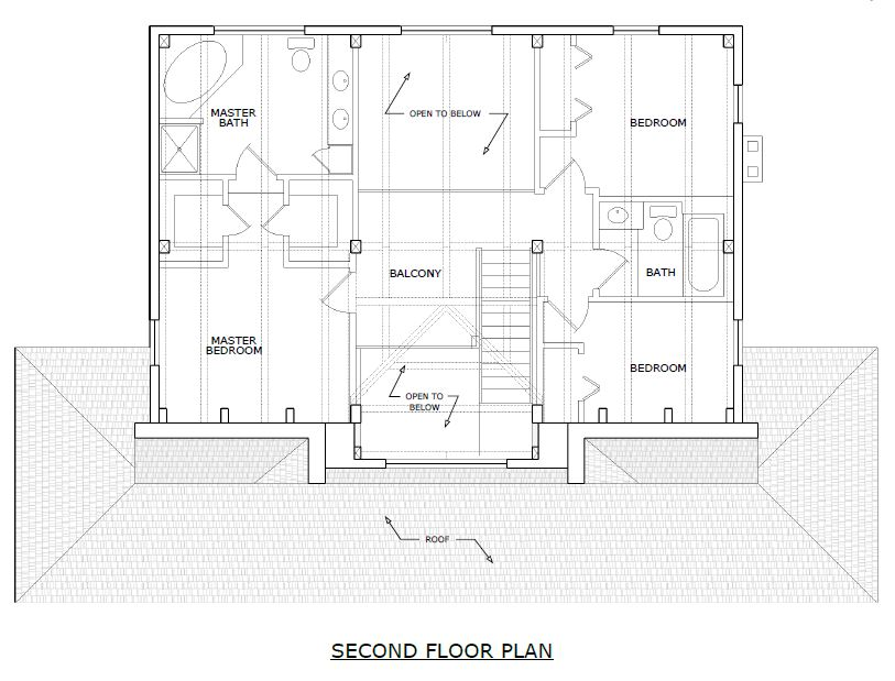 Huntington Timber Frame Second Floorplan