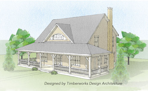 Huntington Timber Frame Front Elevation
