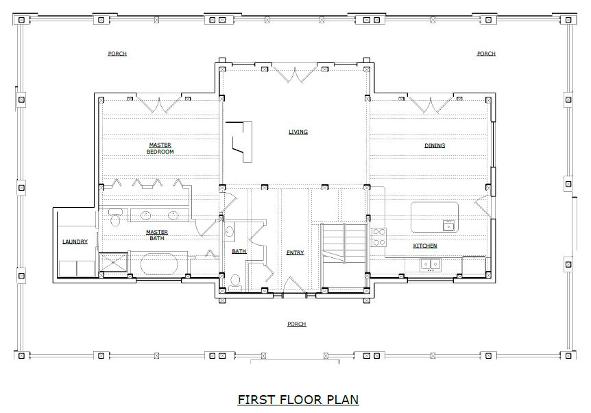 Newhaven Timber Frame First Floorplan