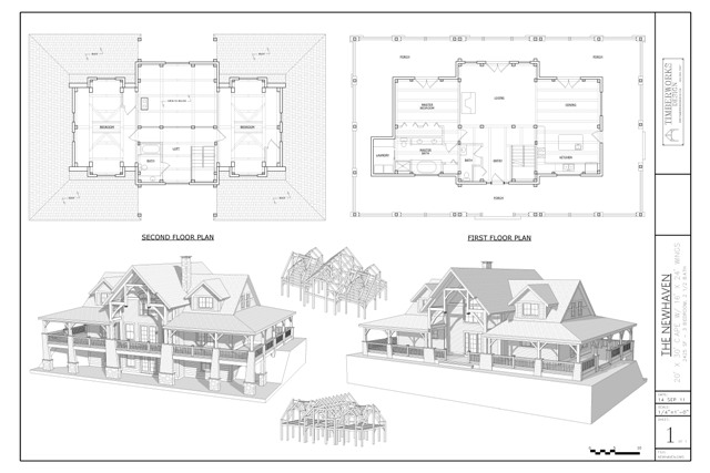 Newhaven timber frame and plan collection