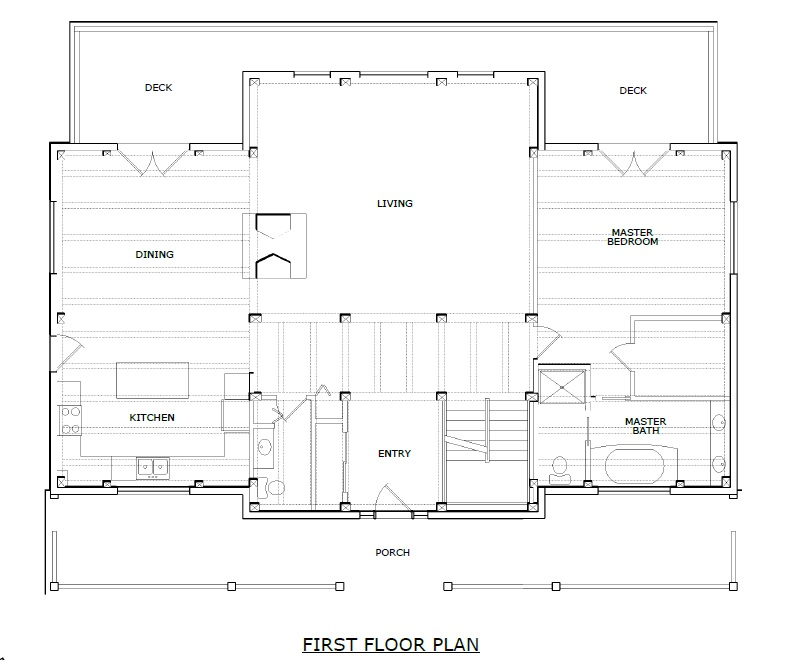 Newport timber frame first floorplan