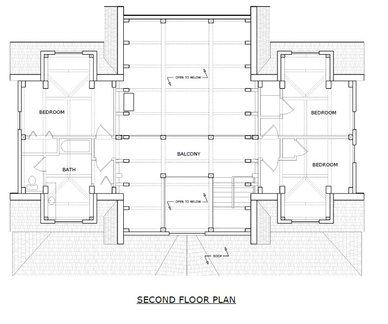 Newport timber frame second floorplan