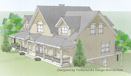 Newport timber frame front elevation